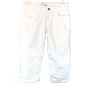 "Old Navy sz 0 white stretch ""The Diva"" capri pants"